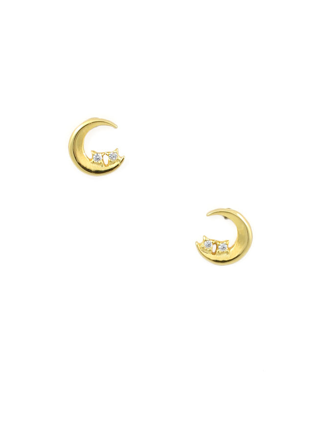 Night Sky Crescent Studs