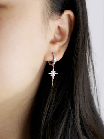 Starstruck Dangle Huggie Earrings