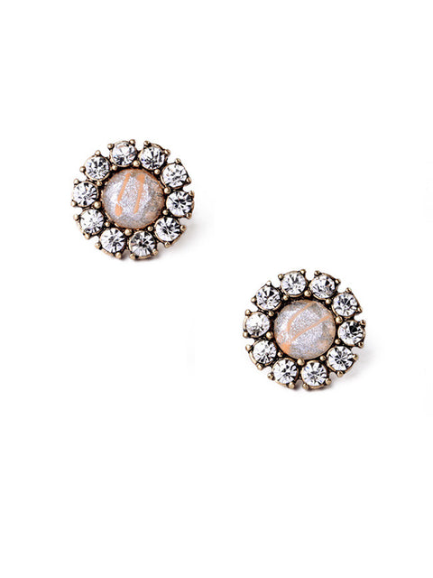 Blushing Bride Stud Earrings