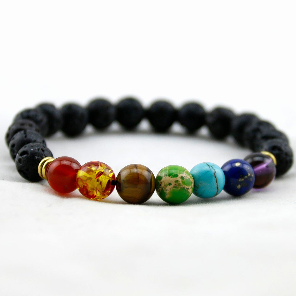 charm chakra bracelet matte and om gemstone quartz healing with products sandalwood crystal