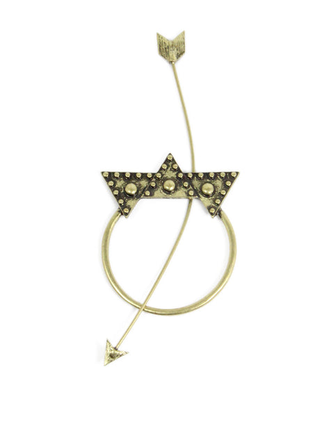 Crown and Arrow Hairpin