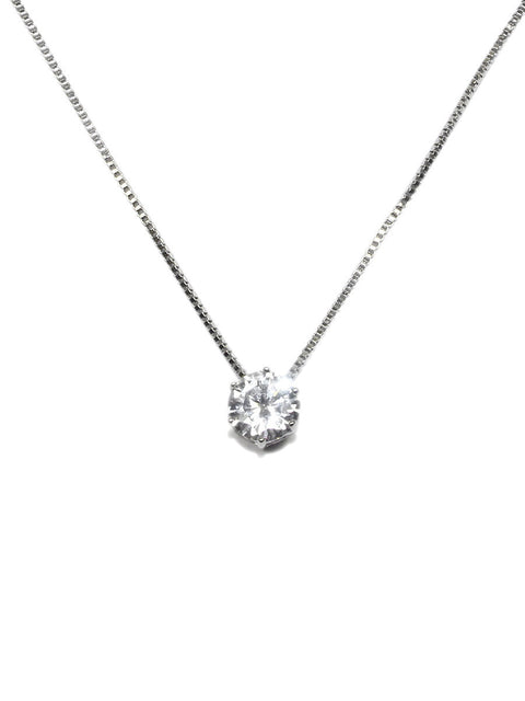 Cubic Zirconia Stud Necklace
