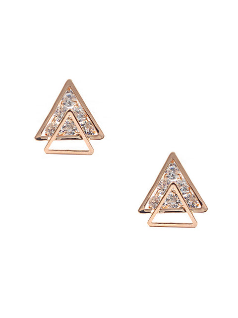 Double Triangle Studs