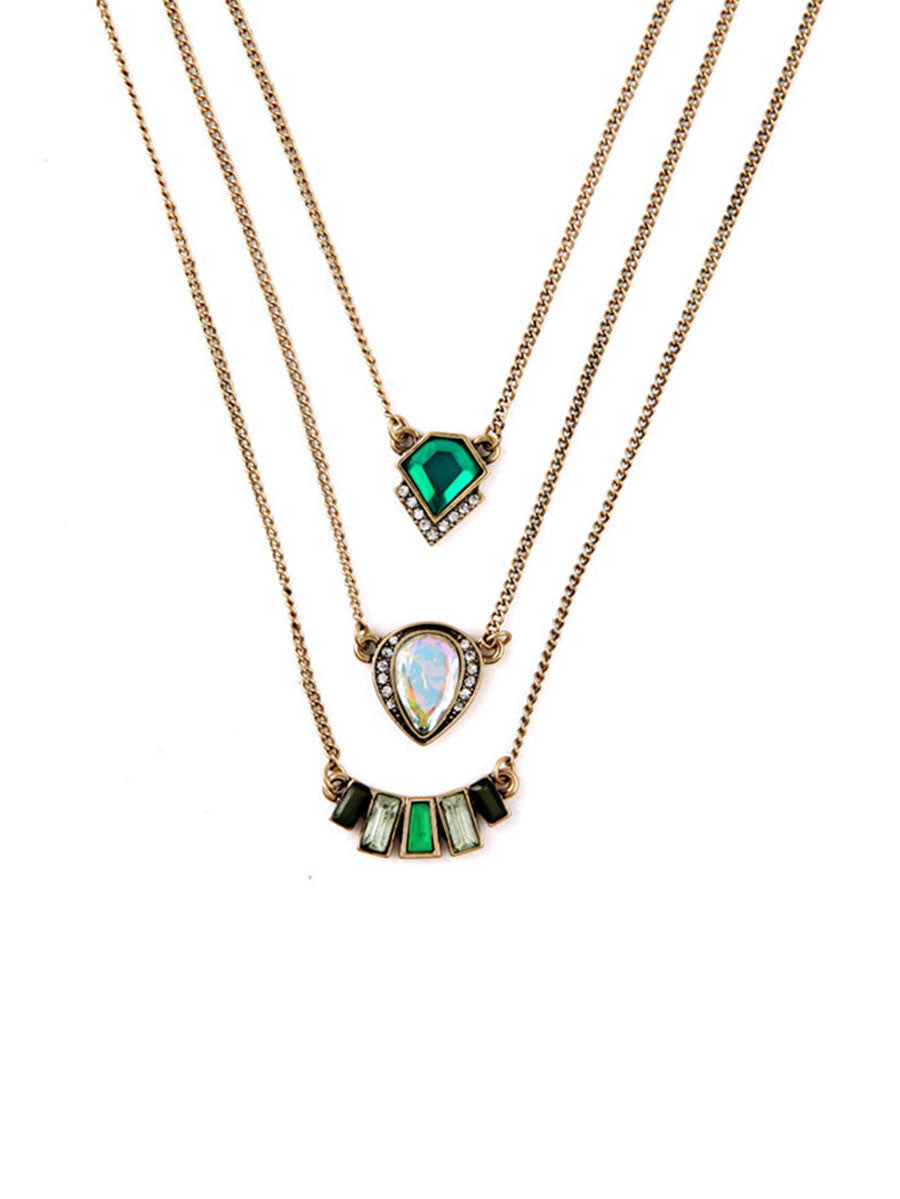 Green Gatsby Necklace
