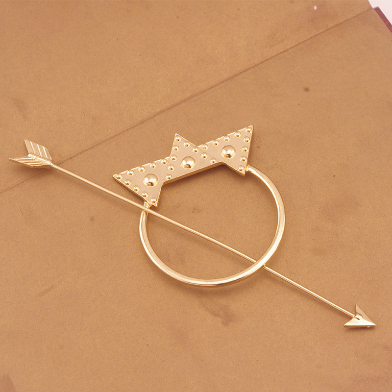 Hairpin - Crown And Arrow Hairpin