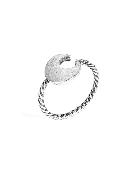 Handmade Crescent Moon Open Ring