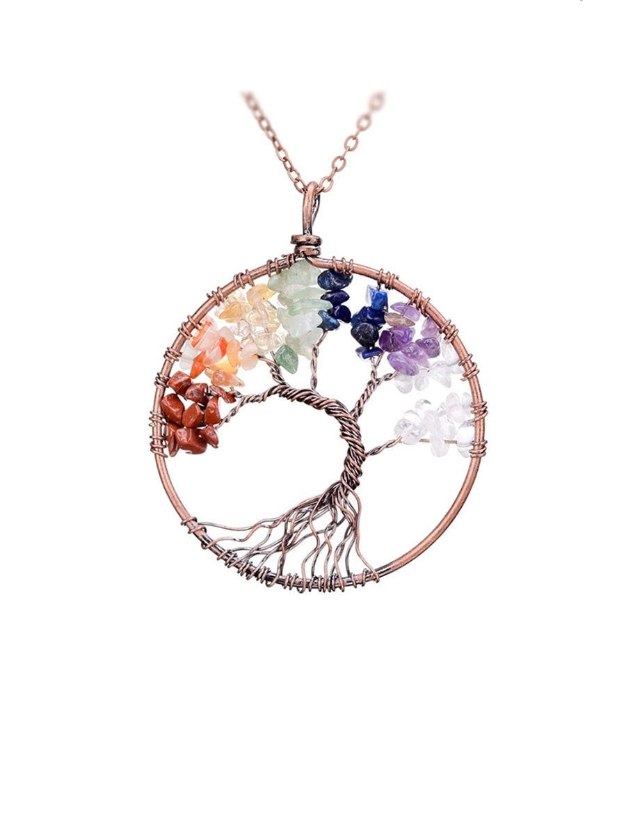 nanostyle ptos products jewelry silver ps necklace of pendant tree sterling life