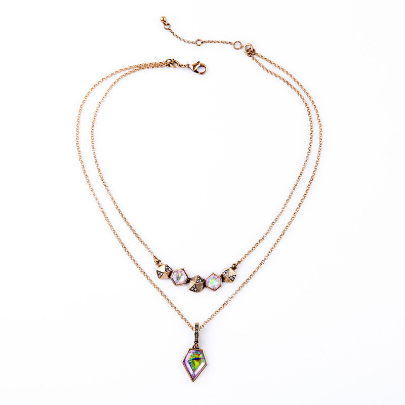 Necklace - Iridescent Statement Necklace
