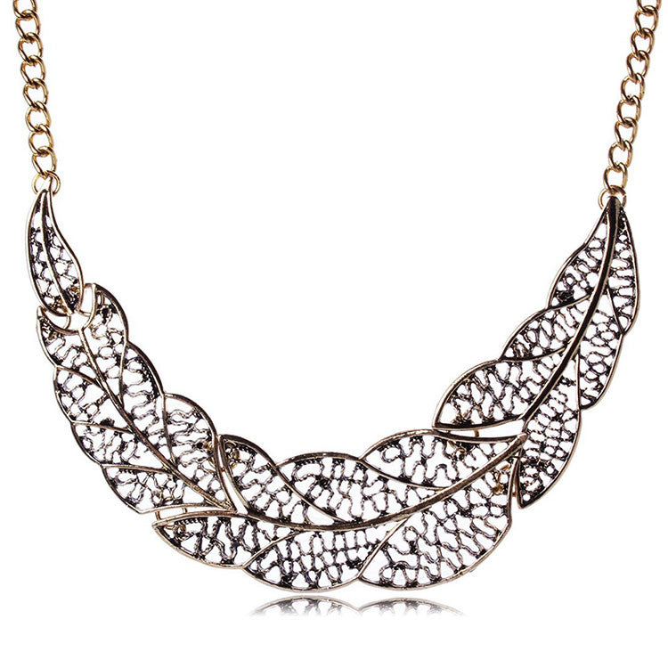 Necklace - Leaf Statement Necklace