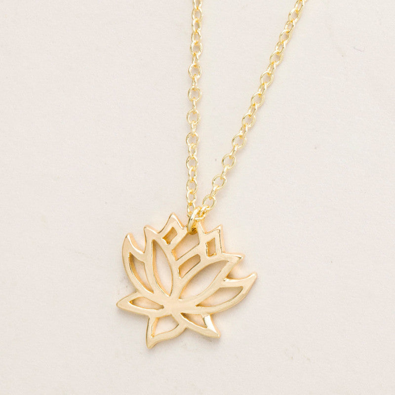 Necklace - Lotus Flower Necklace