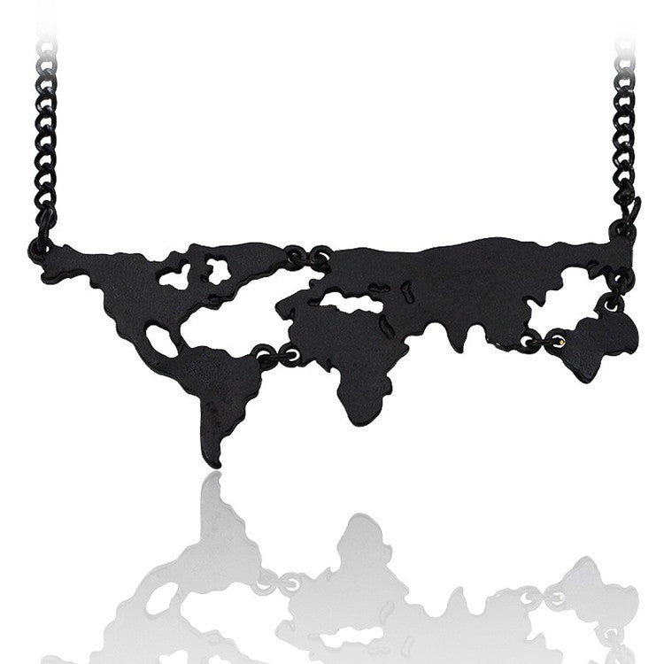 Necklace - World Map Necklace