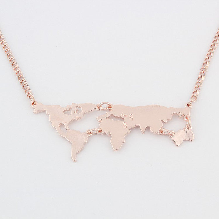 World map necklace seek for chic necklace world map necklace gumiabroncs Images