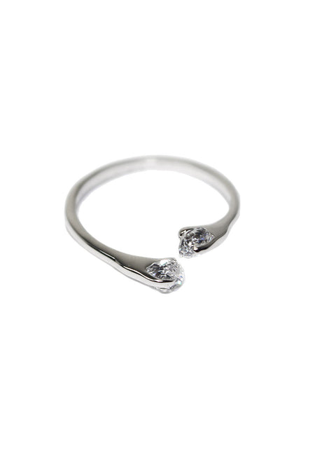 Cubic Zirconia Diamond Open Ring