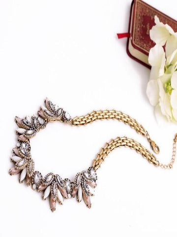 Sweet Leaves Statement Necklace