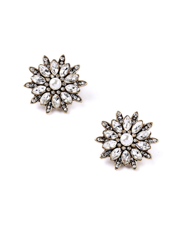 Retro Blooming Flower Studs