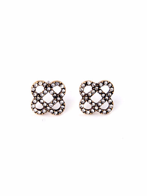 Vintage Geo Clover Earrings