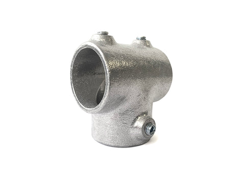 TC Aluminium 104 - Long Tee (Three Socket Tee) Pipe Fitting TubeClamp Fitting by Solid Dynamics Australia