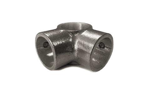 TC Aluminium 116 - Corner Middle Cross (90deg Side Outlet Tee) Pipe Fitting TubeClamp Fitting by Solid Dynamics Australia