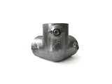 TC Aluminium 128 - Corner Top Cross (Side Outlet Elbow) Pipe Fitting TubeClamp Fitting by Solid Dynamics Australia