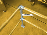 TC 423 - Corner Double Railing Stanchion Tubeclamp Maleable Cast
