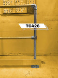 TC 426 - Double Safety Railing Stanchion End Galvanized Tubeclamp Maleable Cast