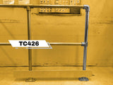 TC 426 - Double Safety Railing Stanchion End Galvanized TubeClamp Fitting by Solid Dynamics Australia