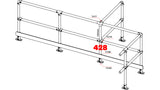 TC 428 - Double Safety Railing Stanchion Intersection Galvanized TubeClamp Fitting by Solid Dynamics Australia