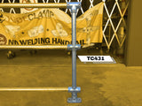 TC 431 - Continuous Intermediate Triple Railing (3R) Stanchion Post Galvanized Tubeclamp Maleable Cast