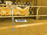 TC 48224 - Mobility off set dual handrail stanchion with kick plate TubeClamp Fitting by Solid Dynamics Australia