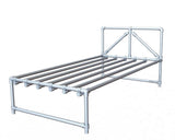 "TC Bed 972 - King Single Bed ""Mitch"" Tubeclamp Maleable Cast"