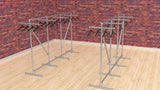 "TC 902.1 ""RoddyGunn"" Clothes Rack 1.5m high x 2.4m long Tubeclamp Maleable Cast"