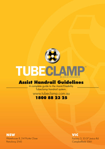 TC Disability Handrail Guidebook Tubeclamp Maleable Cast