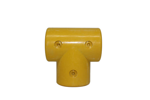 TC FRP 101D - Composite Tee for 50mm Round Tube TubeClamp Fitting by Solid Dynamics Australia