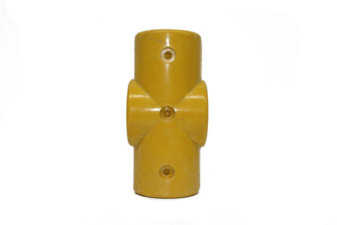 TC FRP 119 - Two Socket Cross (Middle Rail) Pipe Fitting TubeClamp Fitting by Solid Dynamics Australia