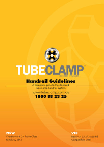 TC Handrail Guidebook Tubeclamp Maleable Cast