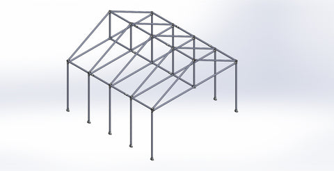 "TC K 522 - Outdoor Shelter ""Greenhouse"" (Frame Only) Tubeclamp Maleable Cast"