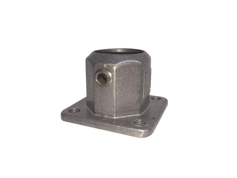 TC LC131 - Lite Square Flange Tubeclamp Maleable Cast