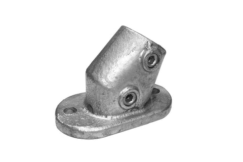 TC QC251C - Stair Base Flange Tubeclamp Maleable Cast
