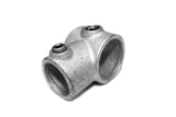 TC 101 - Reduction Short Tee Galvanized Pipe Fitting Comb TubeClamp Fitting by Solid Dynamics Australia