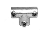 TC 104 - Long Tee (Three Socket Tee) Galvanized Pipe Fitting TubeClamp Fitting by Solid Dynamics Australia