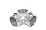 TC 116 - Corner Middle Cross (90deg Side Outlet Tee) Pipe Fitting TubeClamp Fitting by Solid Dynamics Australia