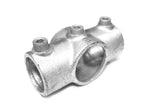 TC 119 - Standard Cross (Two Socket Cross) Galvanized Pipe Fitting TubeClamp Fitting by Solid Dynamics Australia