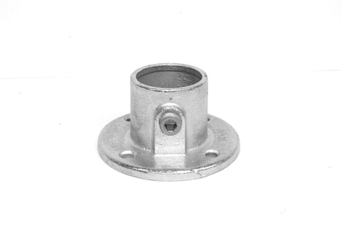 TC 131 - Wall Round Flange Tubeclamp Maleable Cast