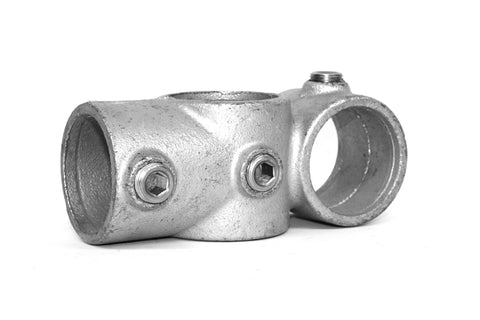 TC 165 - Combined Tee & Crossover Galvanized Pipe Fitting Tubeclamp Maleable Cast