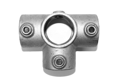 TC 176 - Side Outlet Cross Tee Tubeclamp Maleable Cast