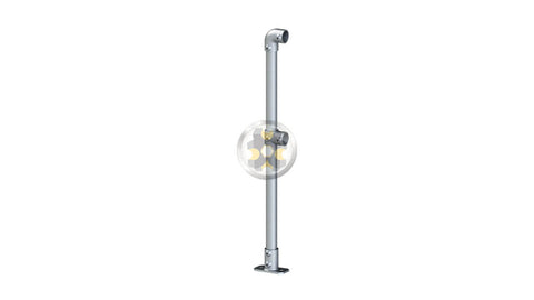 422 - End Termination Double Railing (2R) Stanchion Post Galvanized