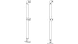 TC 422 - End Termination Double Railing (2R) Stanchion Post Galvanized Tubeclamp Maleable Cast