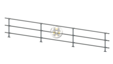 TC 430 - Handrail System Triple Railings /mtr Tubeclamp Maleable Cast
