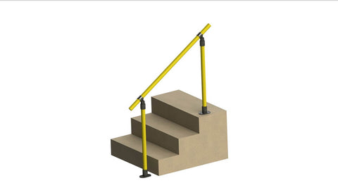 TC 487 - Standard Railing Stair Tubeclamp Maleable Cast