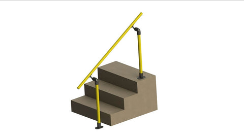 TC 489 - Railing Stair Mobility / Assist Offset Stair Tubeclamp Maleable Cast